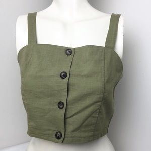 ONE CLOTHING • Green Cropped Top • Size M